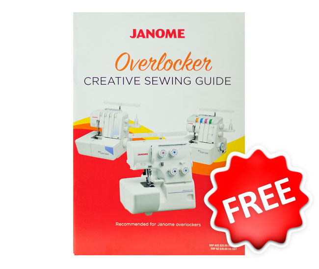 Janome 8002DX Overlocker Creative Sewing Guide