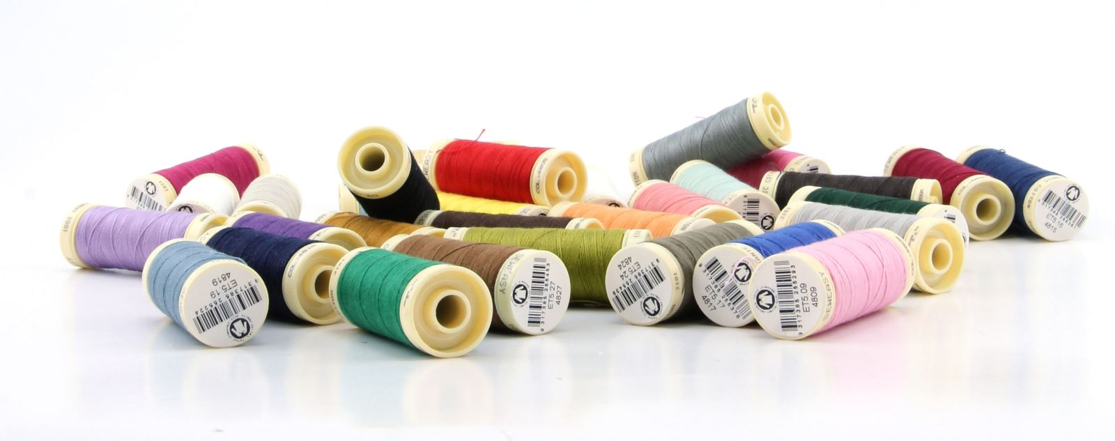 Sew Easy - 20 Assorted 100% Organic Cotton Thread