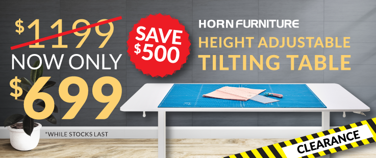Horn Height Adjustable Tilt Table